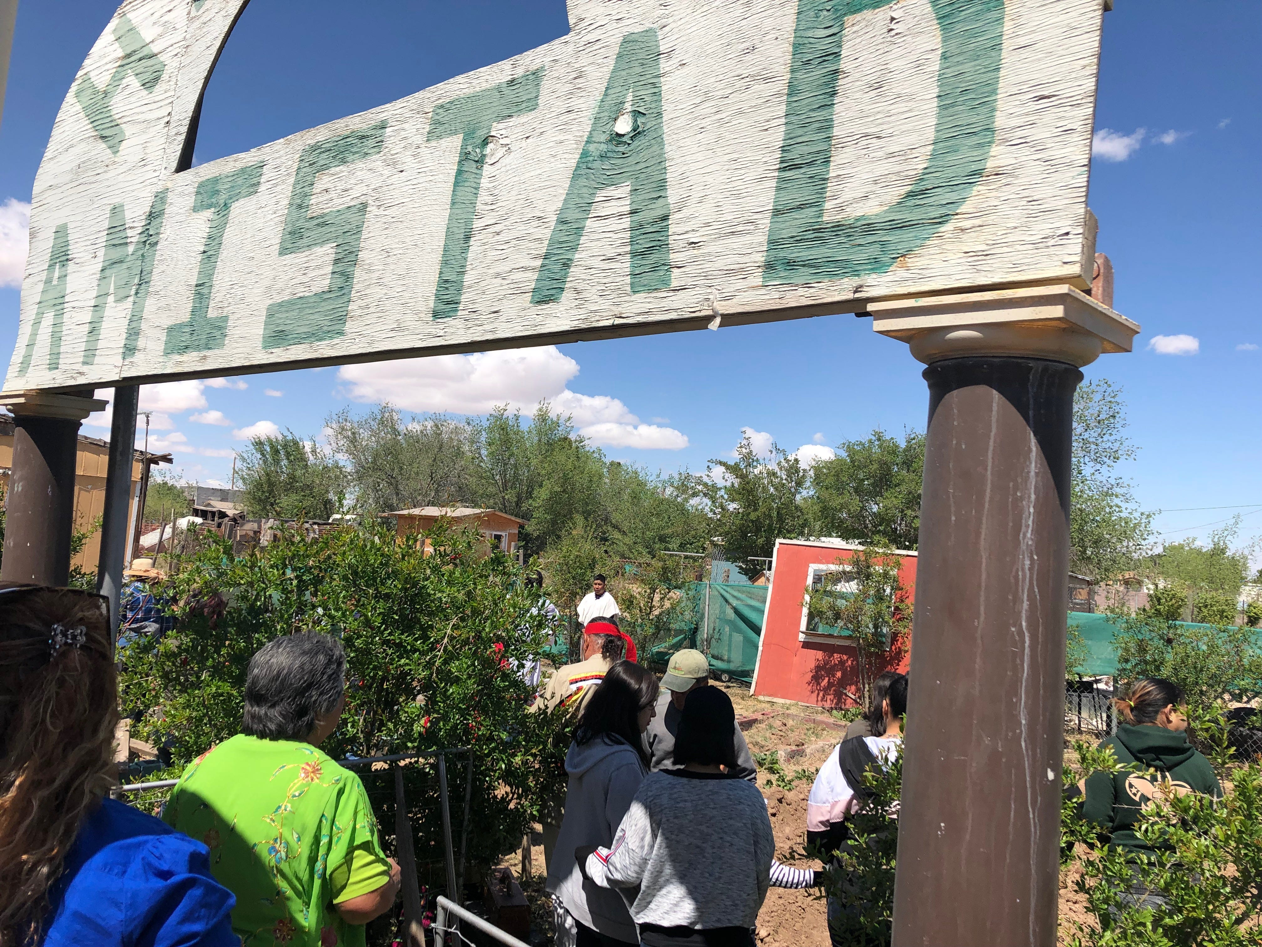 Community members in San Elizario celebrate the start of the growing season at a gathering Saturday, April 13, 2019, at Ayuda Inc.