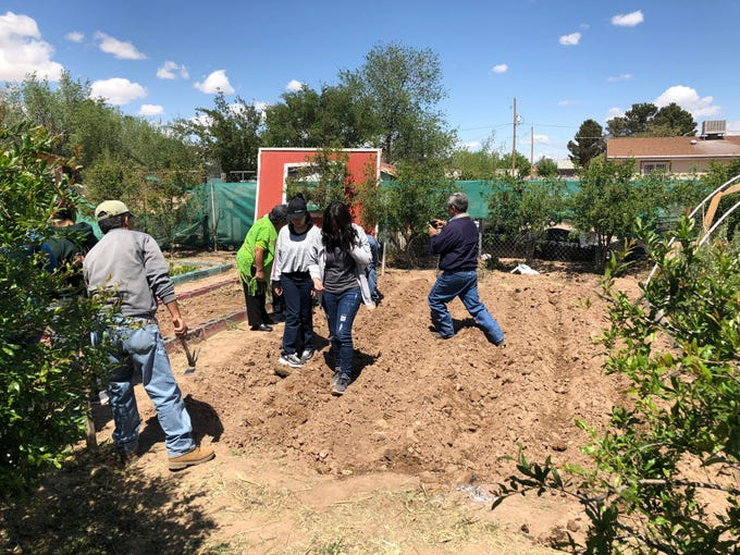 Community members in San Elizario celebrate the start of the growing season at a gathering Saturday, April 13, 2019, at Ayuda Inc. in San Elizario, Texas.