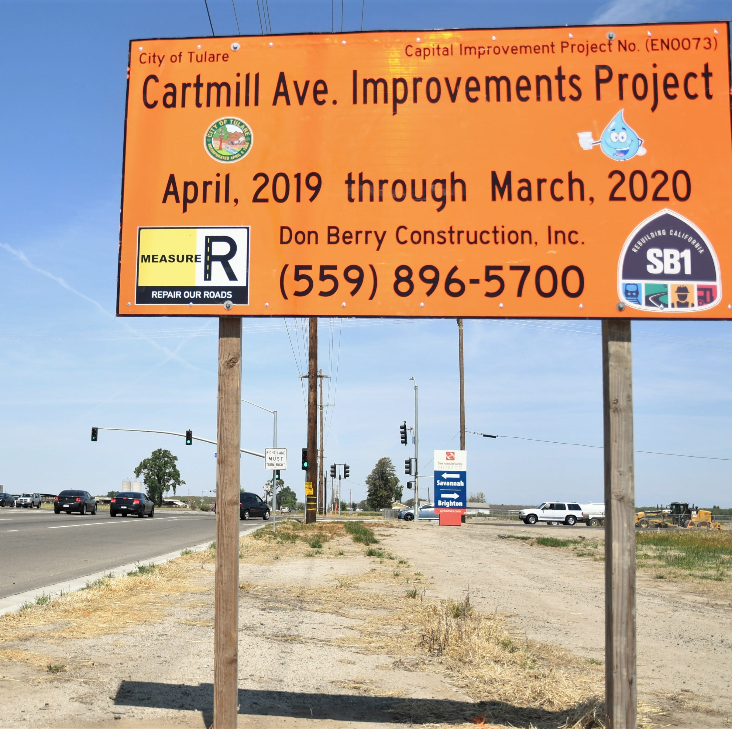 Year-long construction project begins today on this busy Tulare road