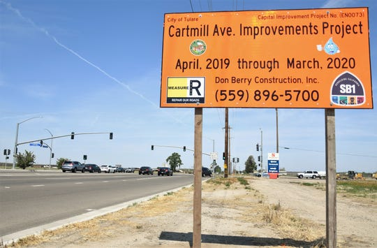 Tulare's Cartmill Avenue Improvements Project is expected to last nearly a year.