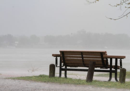 Rain poured all over Wichita Falls Saturday, April 13, 2019.