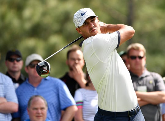 Brooks Koepka is in a five-way tie for first after two rounds at the Masters.