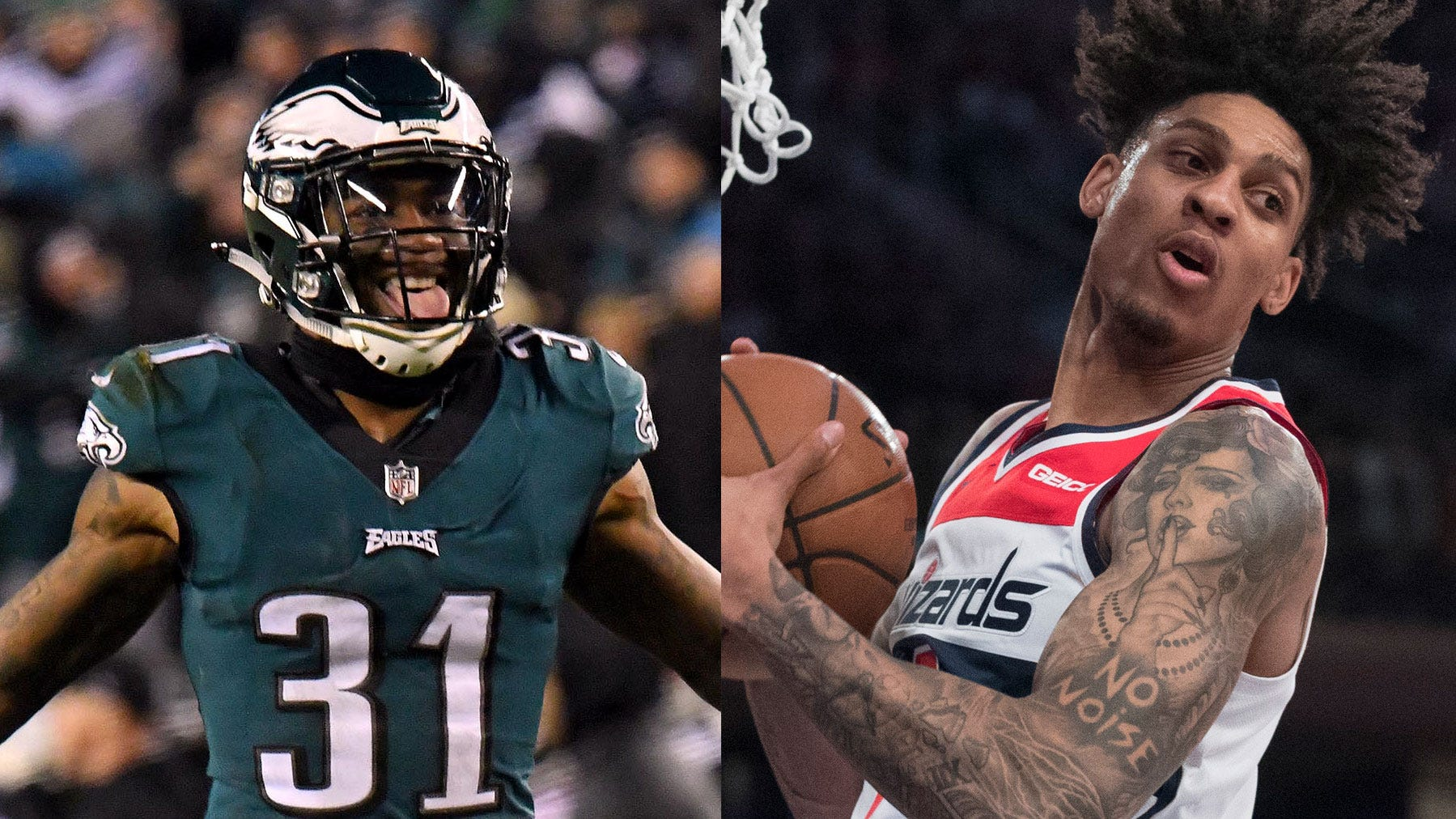 The NFL and NBA players were arrested and charged with disorderly conduct for fighting outside a Washington D.C. nightclub early Saturday.