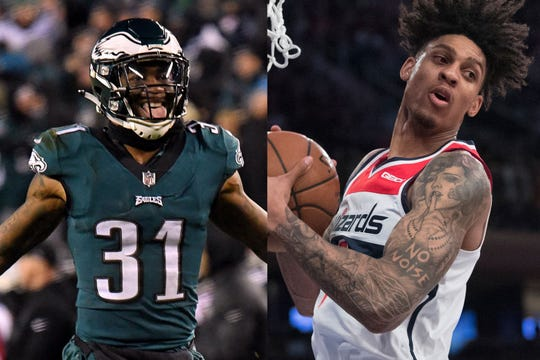 Eagles cornerback Jalen Mills, left, and Wizards forward Devin Robinson were arrested for fighting in Washington D.C.