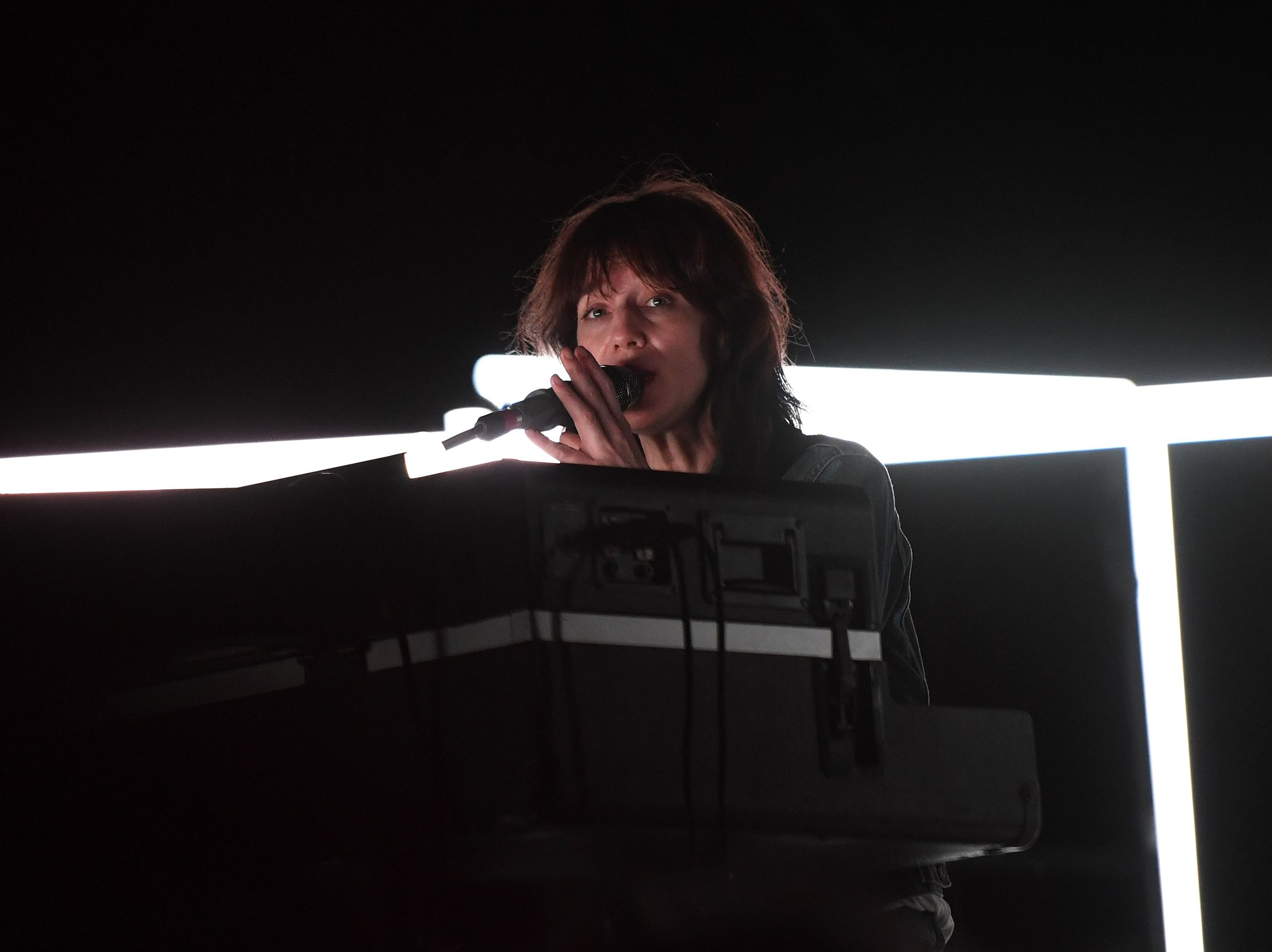 British-French actress and singer Charlotte Gainsbourg performs onstage at the Coachella Valley Music and Arts Festival on April 12, 2019 in Indio, California. (Photo by VALERIE MACON / AFP)VALERIE MACON/AFP/Getty Images ORIG FILE ID: AFP_1FM0QQ