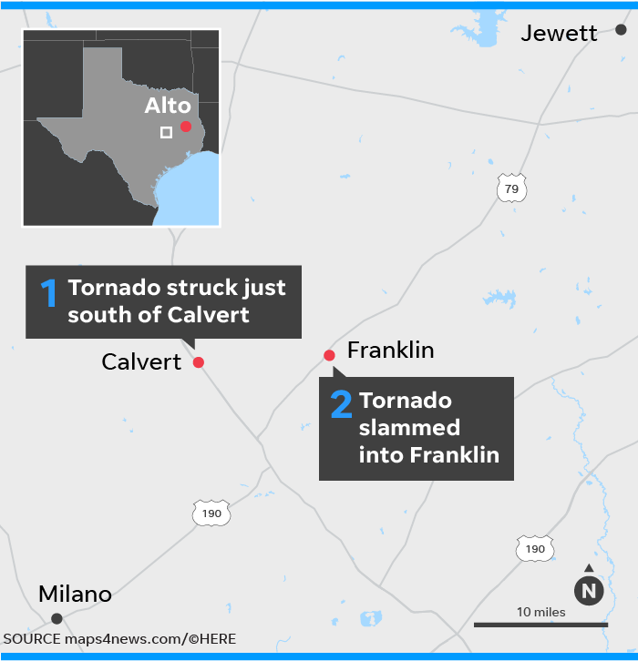 Map Of Tornadoes In Texas Yesterday.Weather Forecast Tornado Hits Texas Storm Eyes Alabama Georgia