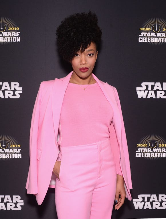 """""""Star Wars: The Rise of Skywalker"""" actress Naomi Ackie was introduced to the franchise's fandom at Star Wars Celebration."""