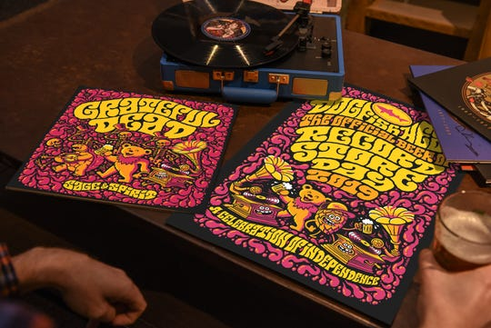 Dogfish Head, the official brewery of Record Store Day, partnered with the Grateful Dead on a limited-edition, 10-track, Grateful Dead album titled Sage and Spirit for Record Store Day. Dogfish Head also has three music-related beers originally released for previous Record Store Days available this year.