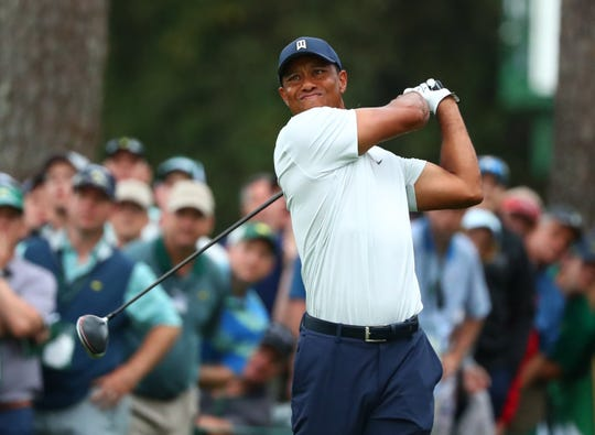 Tiger Woods is one shot off the lead heading into Saturday.
