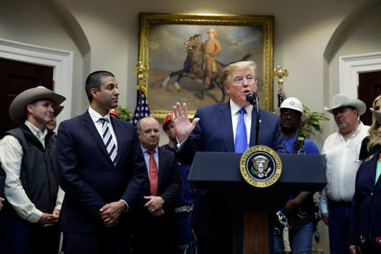 President Donald Trump in the Roosevelt Room of the White House on April 12, 2019.
