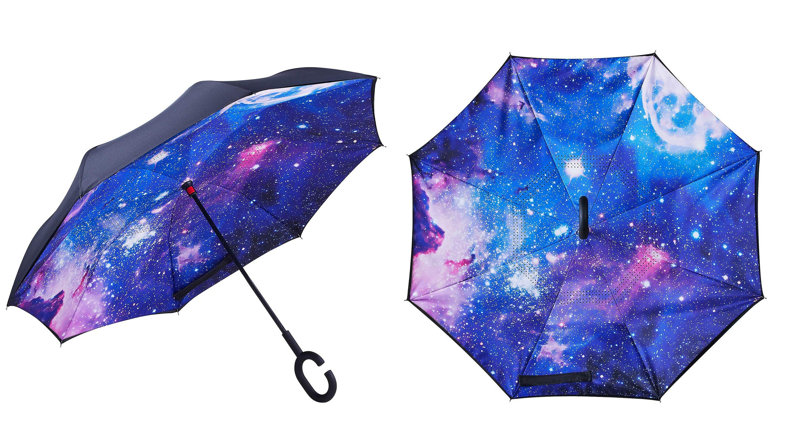 April showers are no hassle at all with this stylish inverted umbrella.