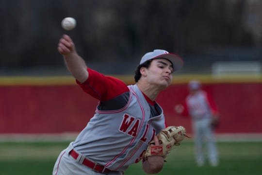 The pitching of Trey Dombroski, Ryan Napolitano, Grant Shulman (pictured) and Teddy Sharkey has led Wall to the No. 1 slot in the Asbury Park Press Baseball Top 10