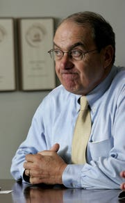 S. Thomas Gagliano during an editorial board meeting at the Asbury Park Press in Neptune in 2005.