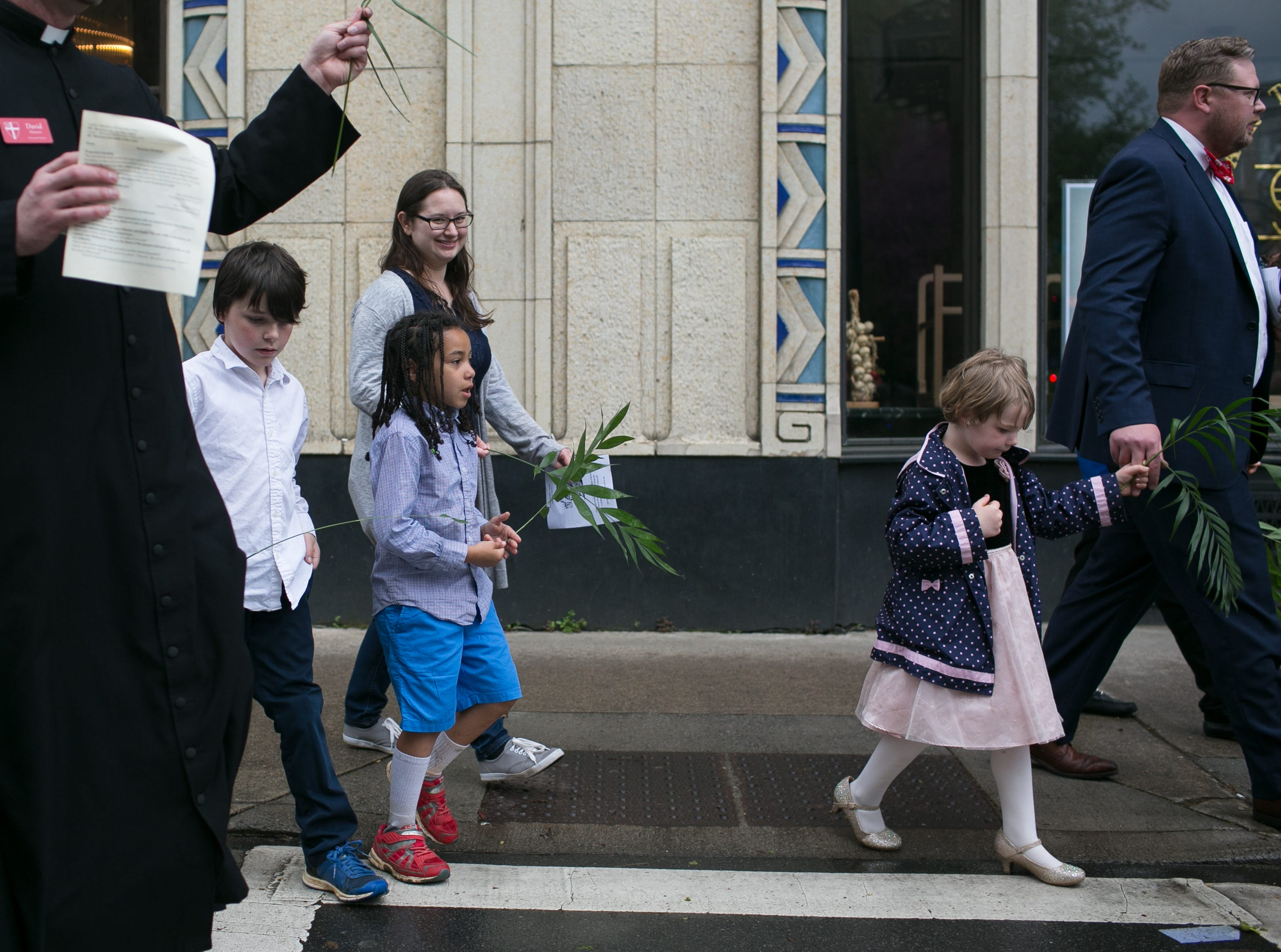 Central United Methodist Church held their annual Palm Sunday procession to Pritchard Park on April 14, 2019.  Members of First Presbyterian and Trinity Episcopal Church joined members of Central United Methodist for the procession, which was held between the 8:45 a.m. & 10:55 a.m. services.