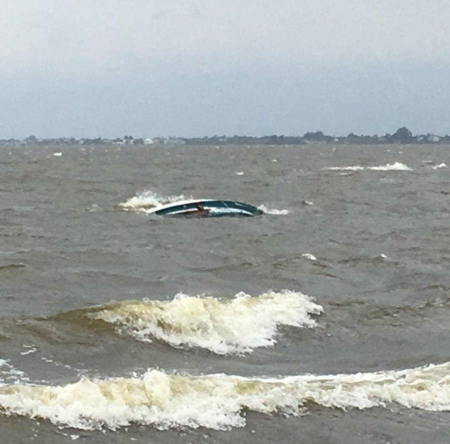 Boat flips in Banana River near Merrit Island; Four men make it safely to shore