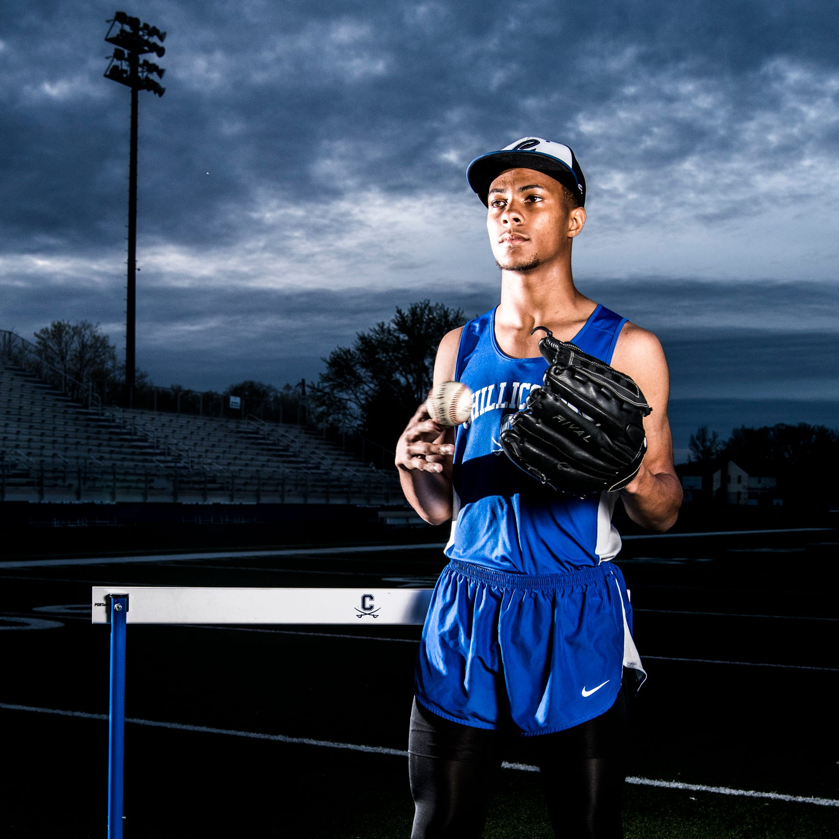 Chillicothe's J'Quan Harris using blazing speed to juggle baseball, track and field