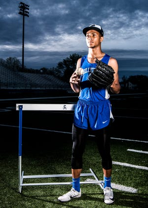 Chillicothe senior J'Quan Harris juggles track and baseball during his senior year of high school. Harris is one of the top athletes in the area in high jump, winning the event at Paint Valley's Andy Haines Invitational by reaching 5 feet, 8 inches, and looks to break the record his dad Jemar Harris set in the 300-meter hurdles.