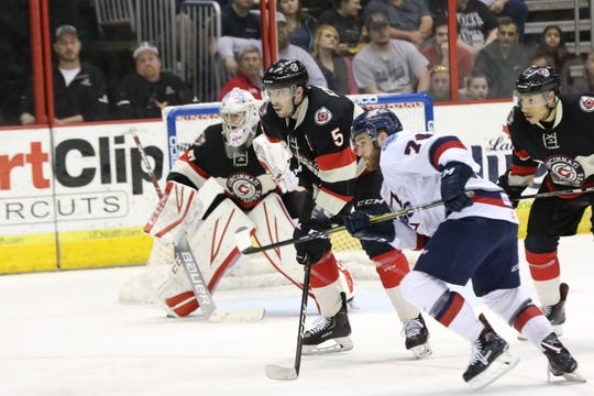 The Cyclones and Wings head to Kalamazoo tied 1-1 in the first round of the Kelly Cup playoffs after Cincinnati was shutout 2-0 Saturday night at U.S. Bank Arena in Game 2.