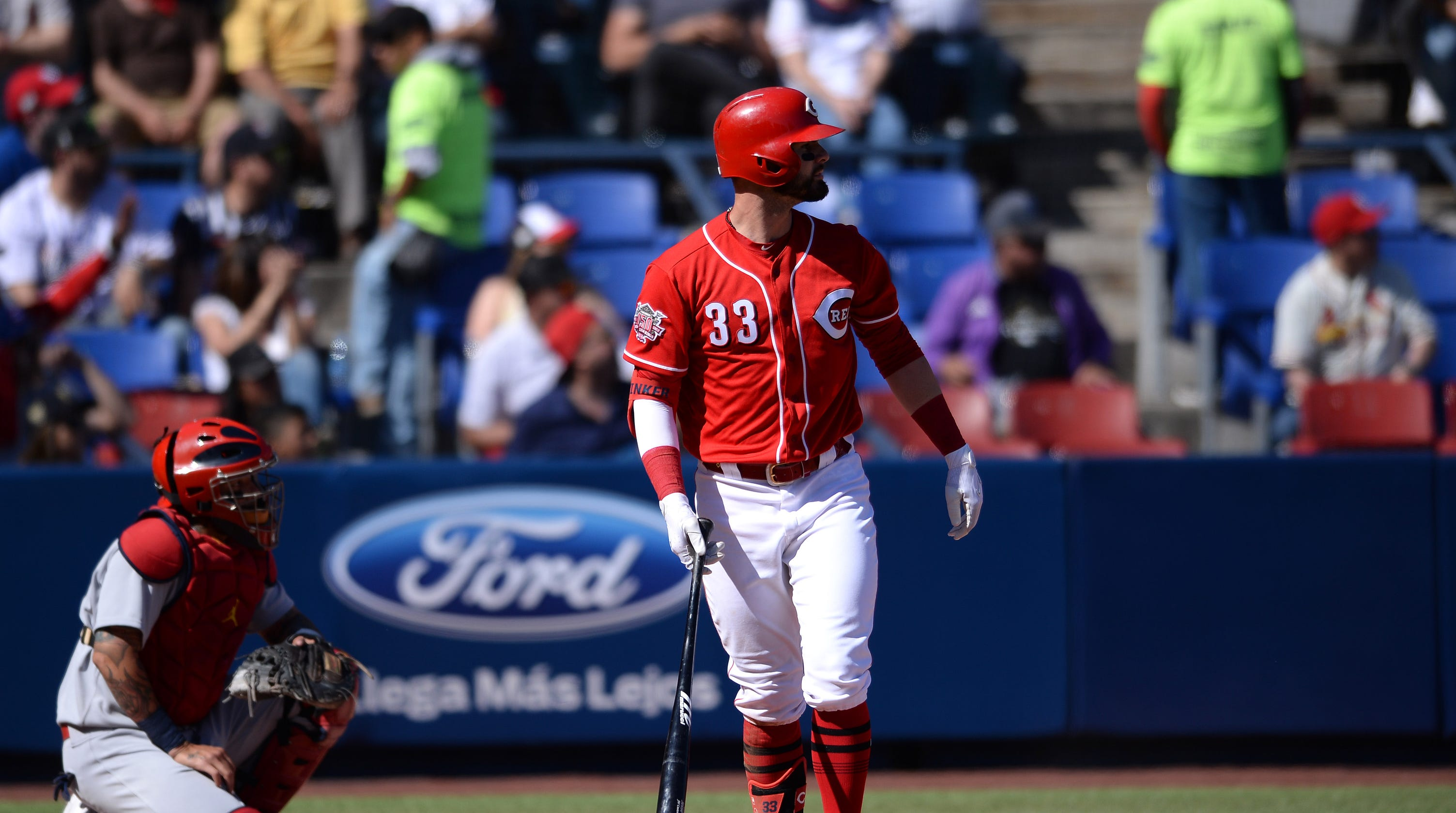7c7fdadb MLB Mexico Series: Jesse Winker homers again as Cincinnati Reds lose