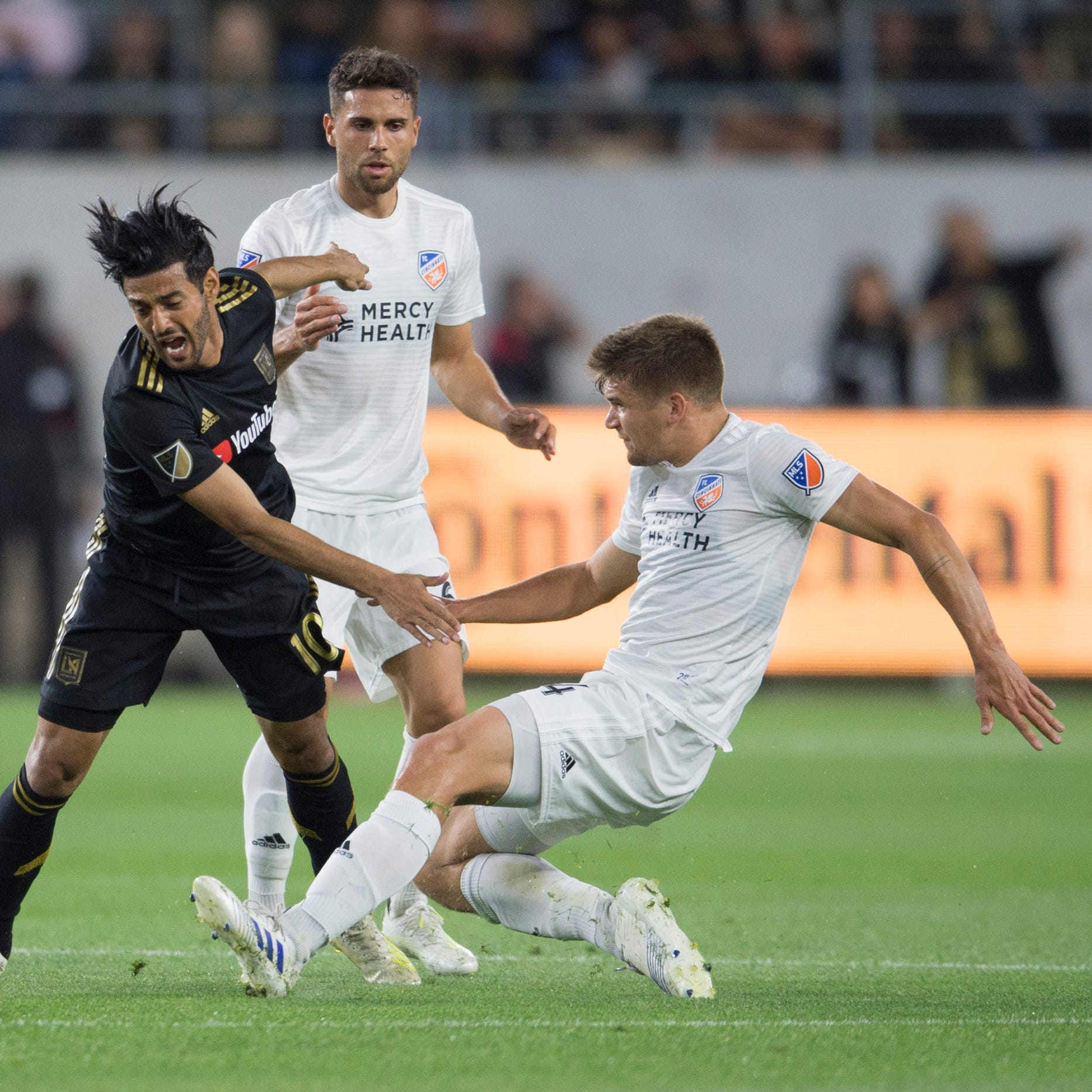 Hard-luck FC Cincinnati blanked in 2-0 loss at LAFC's Banc of California Stadium