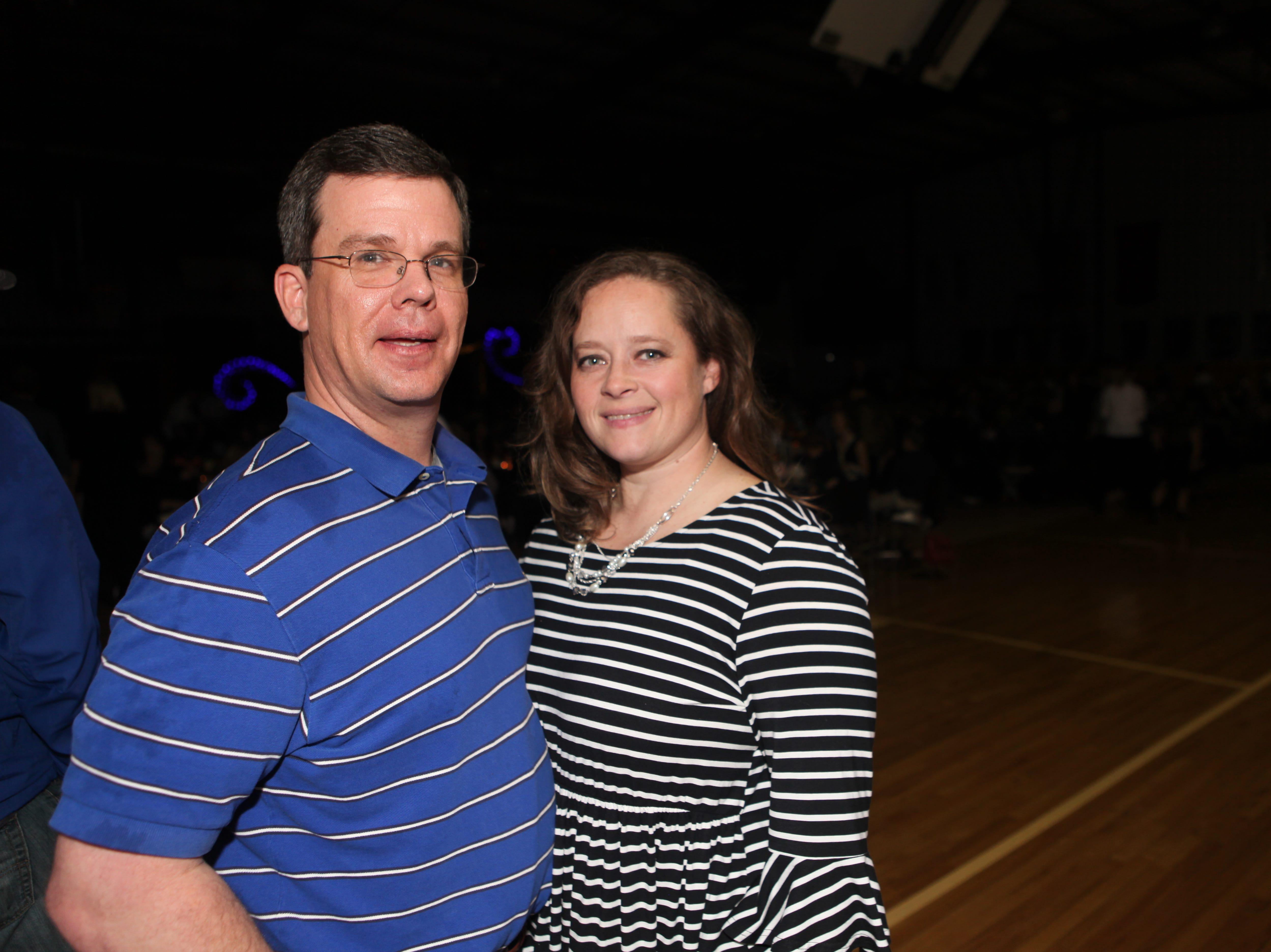 Cara and Matt Miller at Clarksville Academy's Steak Dinner on Saturday, April 13, 2019.