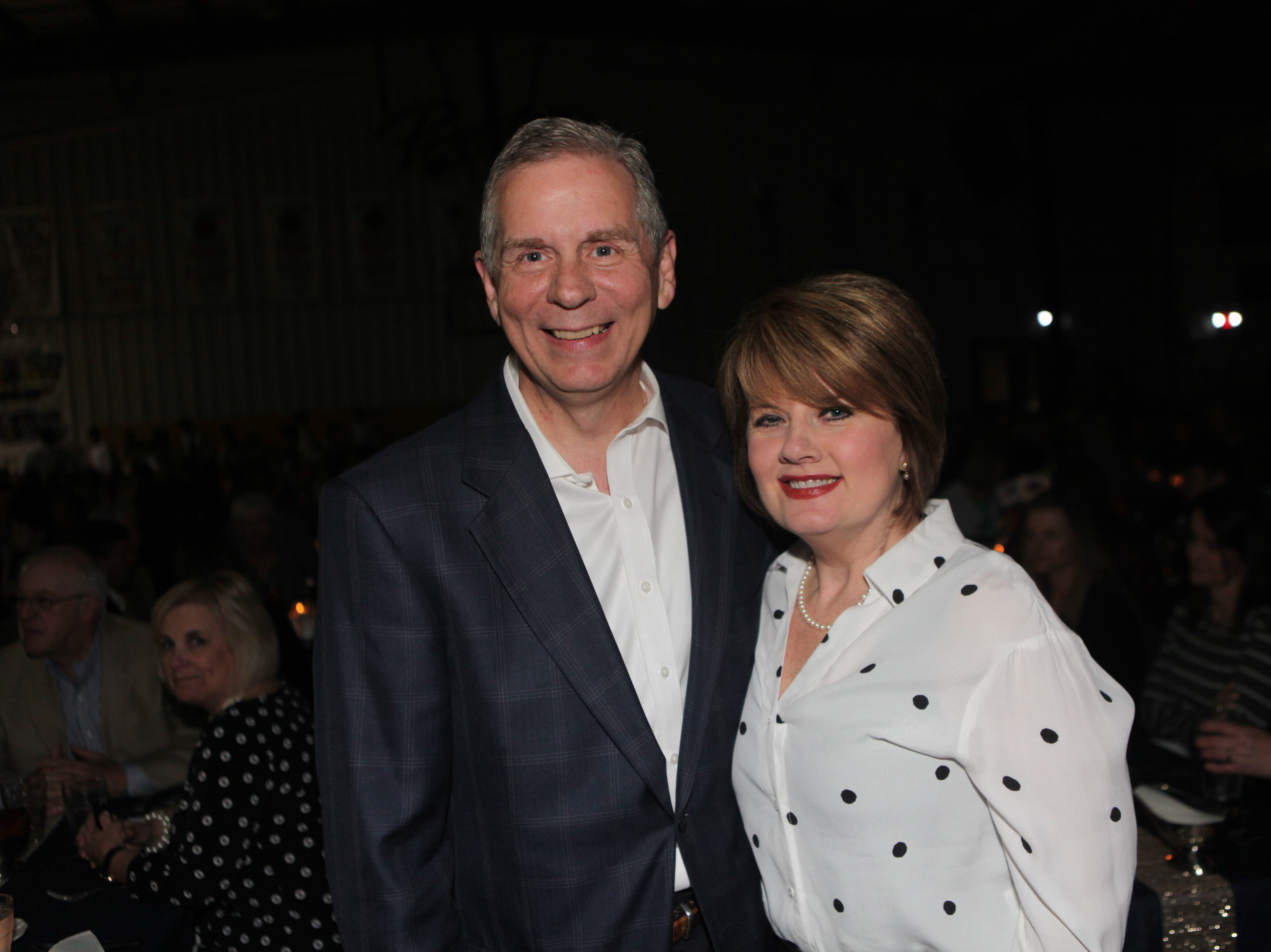 Mayor Joe Pitts and Cindy Pitts at Clarksville Academy's Steak Dinner on Saturday, April 13, 2019.