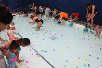 Hundreds of kids turned out Saturday for Clarksville Parks & Recreation's annual Wettest Egg Hunt at the Indoor Pool.