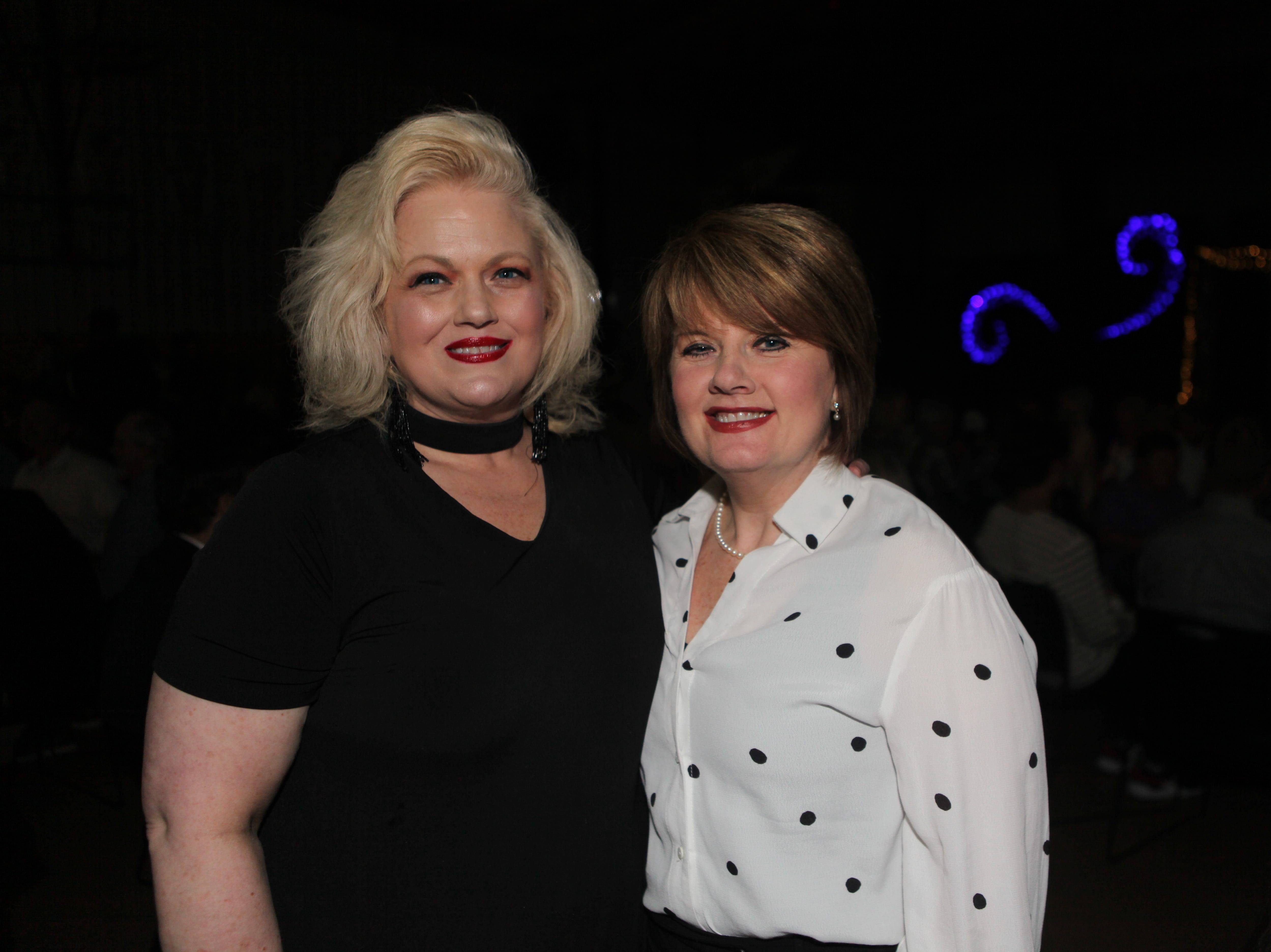 Angela Thomas and Cindy Pitts at Clarksville Academy's Steak Dinner on Saturday, April 13, 2019.