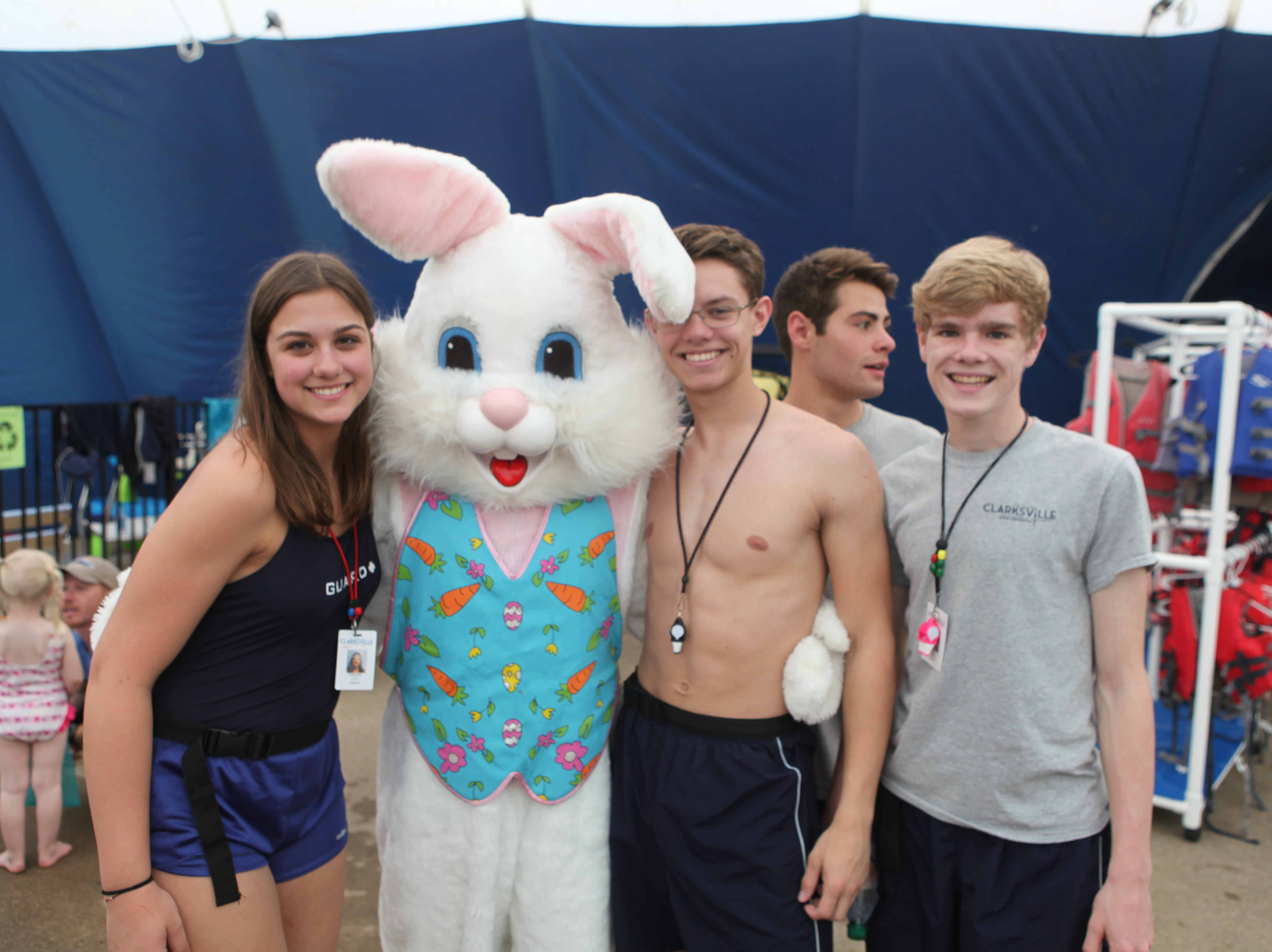 Clarksville Parks and Recreation hosted its annual Wettest Egg Hunt at the New Providence Aquatic Center on Saturday, April 13, 2019.