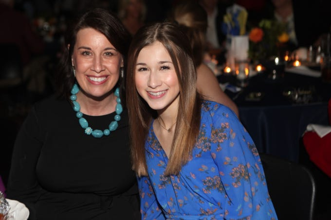 Christina and Molly Clark at Clarksville Academy's Steak Dinner on Saturday, April 13, 2019.