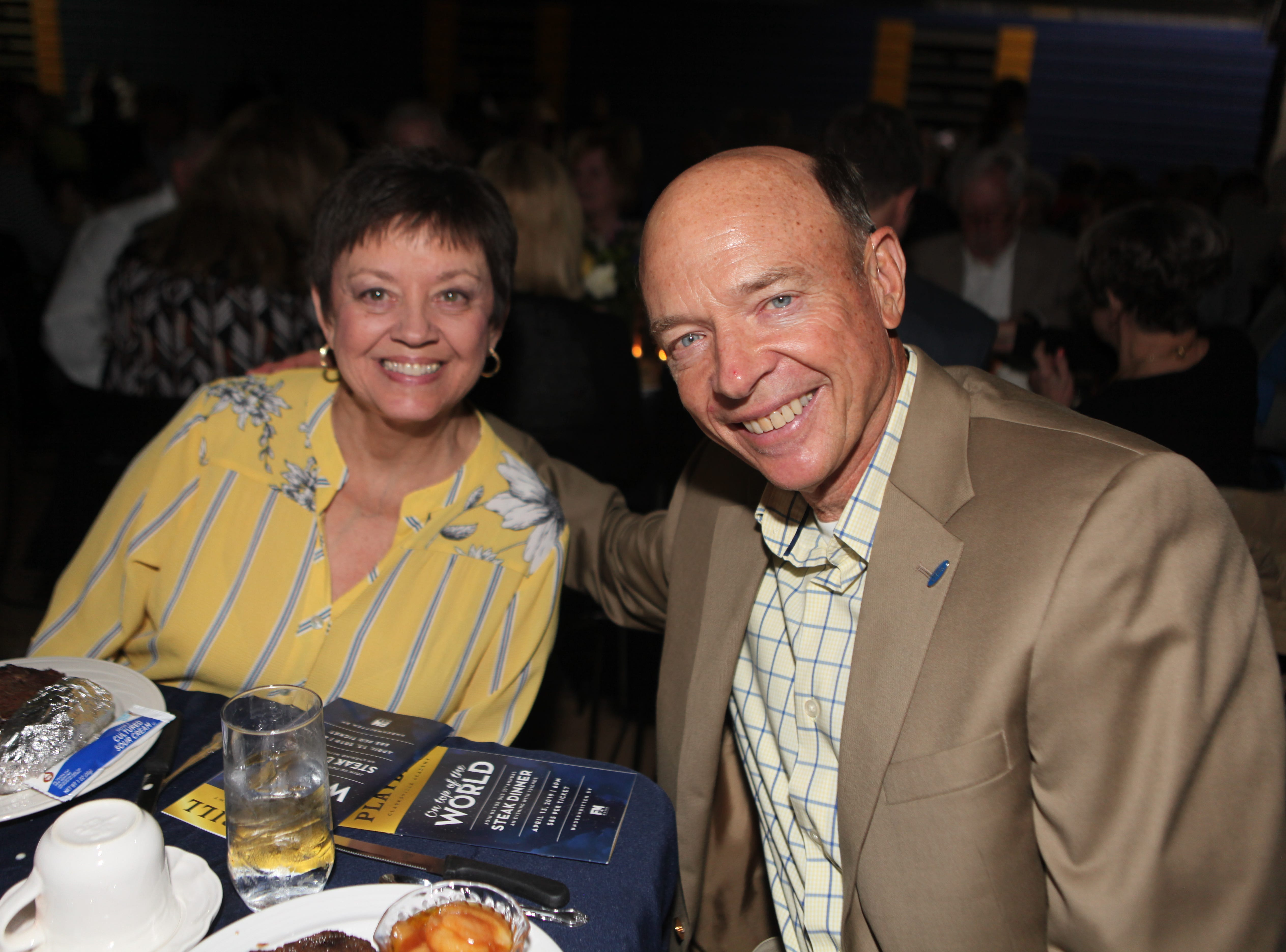 Sandy and Don Jenkins at Clarksville Academy's Steak Dinner on Saturday, April 13, 2019.