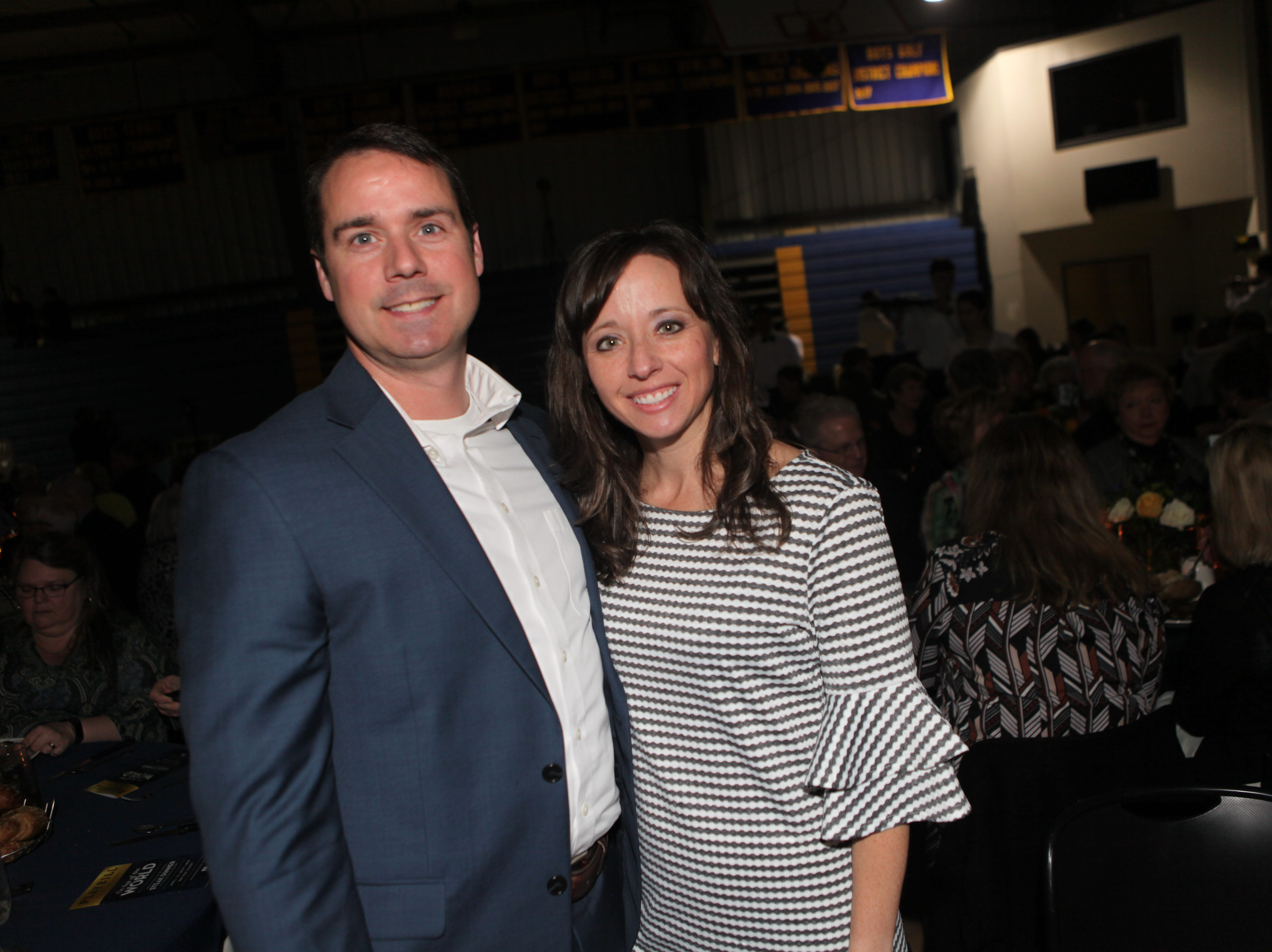 Chas Greer and Casey Jenkins at Clarksville Academy's Steak Dinner on Saturday, April 13, 2019.