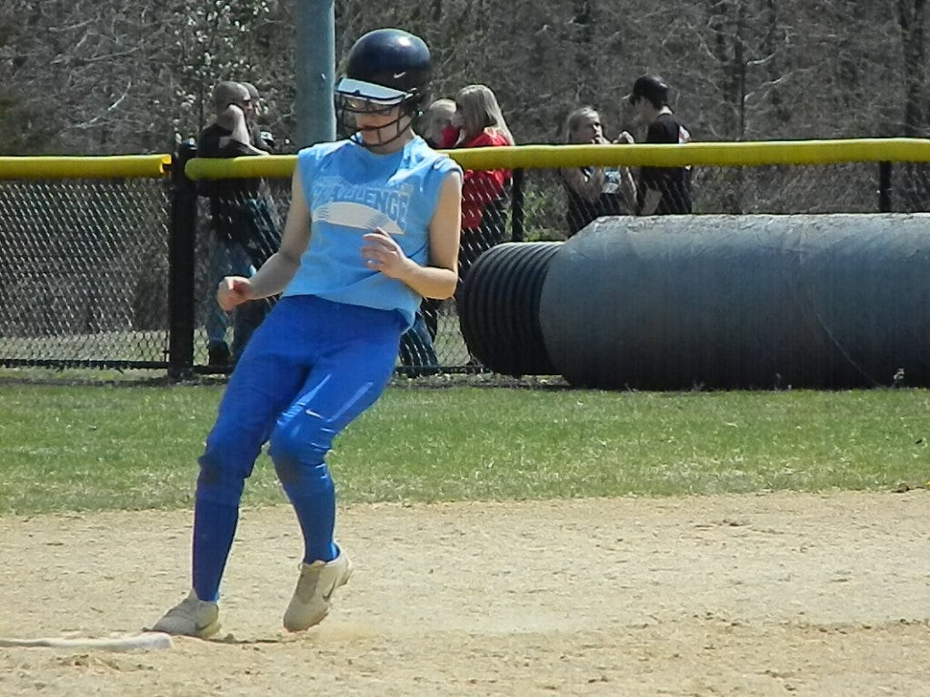 The Sayreville softball team plays against Perth Amboy during the Autism Awareness Challenge on Saturday, April 13, 2019 at North Brunswick Community Park.