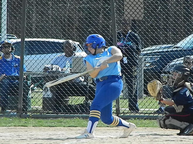 The North Brunswick softball team plays against Woodbridge during the Autism Awareness Challenge on Saturday, April 13, 2019 at North Brunswick Community Park.