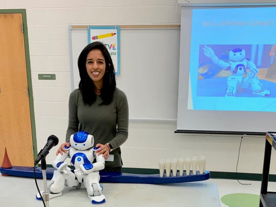 On staff for four years at Olin Dental Group, Medi the robot, here with Dr. Neha Golwala, is programmed in order to act as a companion along side children in a dental operatory. Medi is able to speak to children at their level and decrease their concerns, anxiety and fears when they come to the dentist.