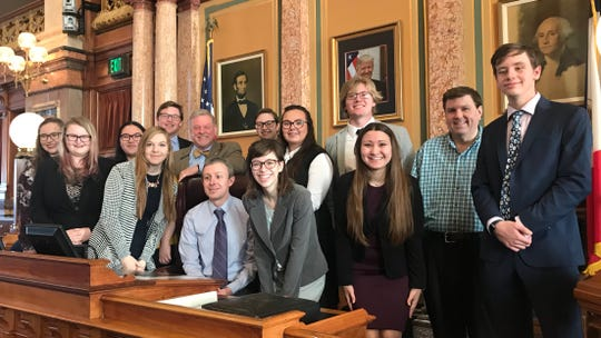 The Simpson College speech and debate team was honored at the Capitol last wee. The team recently won the Pi Kappa Delta National Debate Championship. Simpson topped Boise State University and 76 other colleges and universities in team points to earn the honor. This was the second consecutive win for the Simpson team.