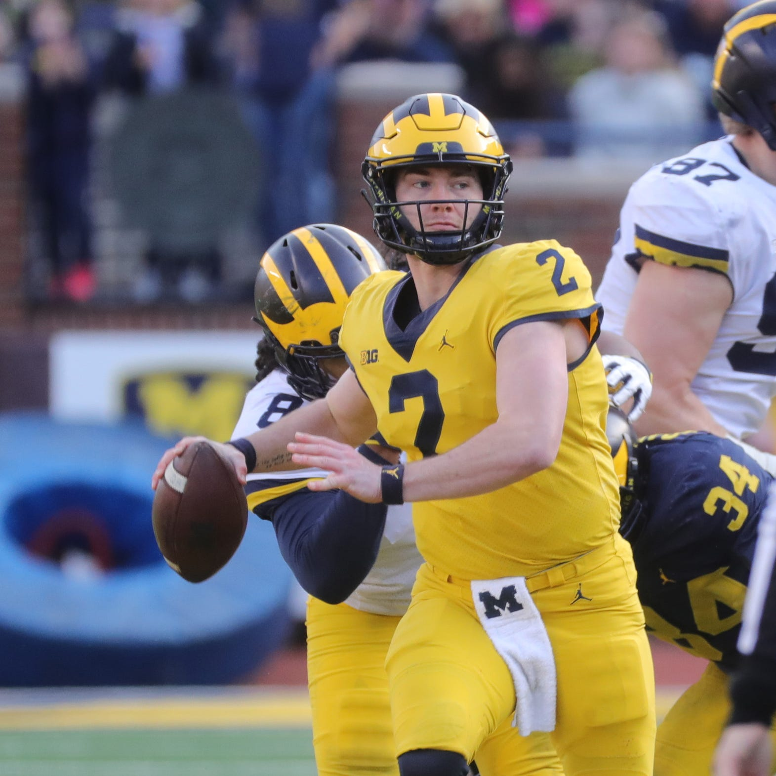 Michigan football's Shea Patterson didn't 'put his feet up' this spring — he got better