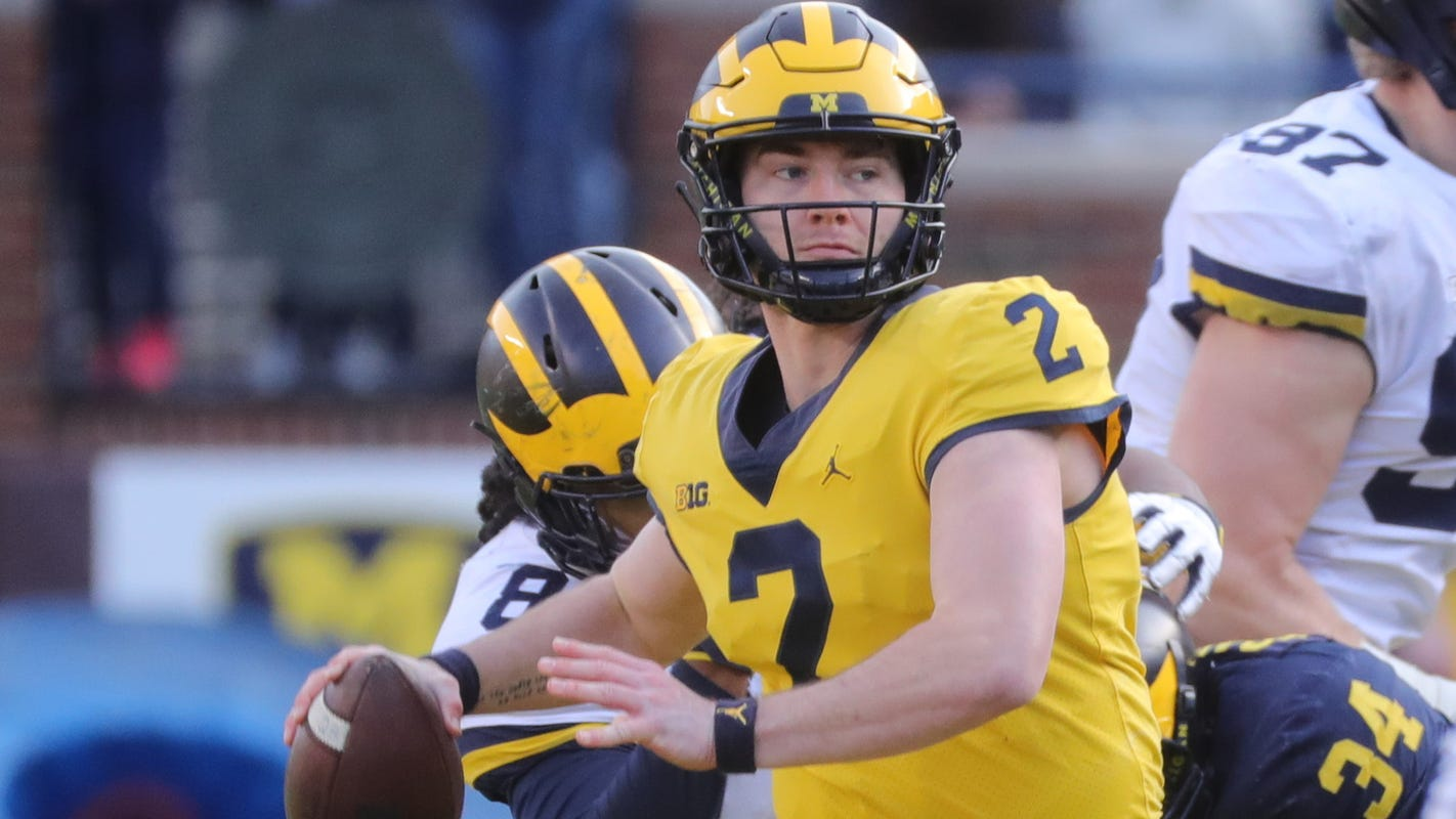 "Michigan's Shea Patterson didn't ""put his feet up,"" he got ..."
