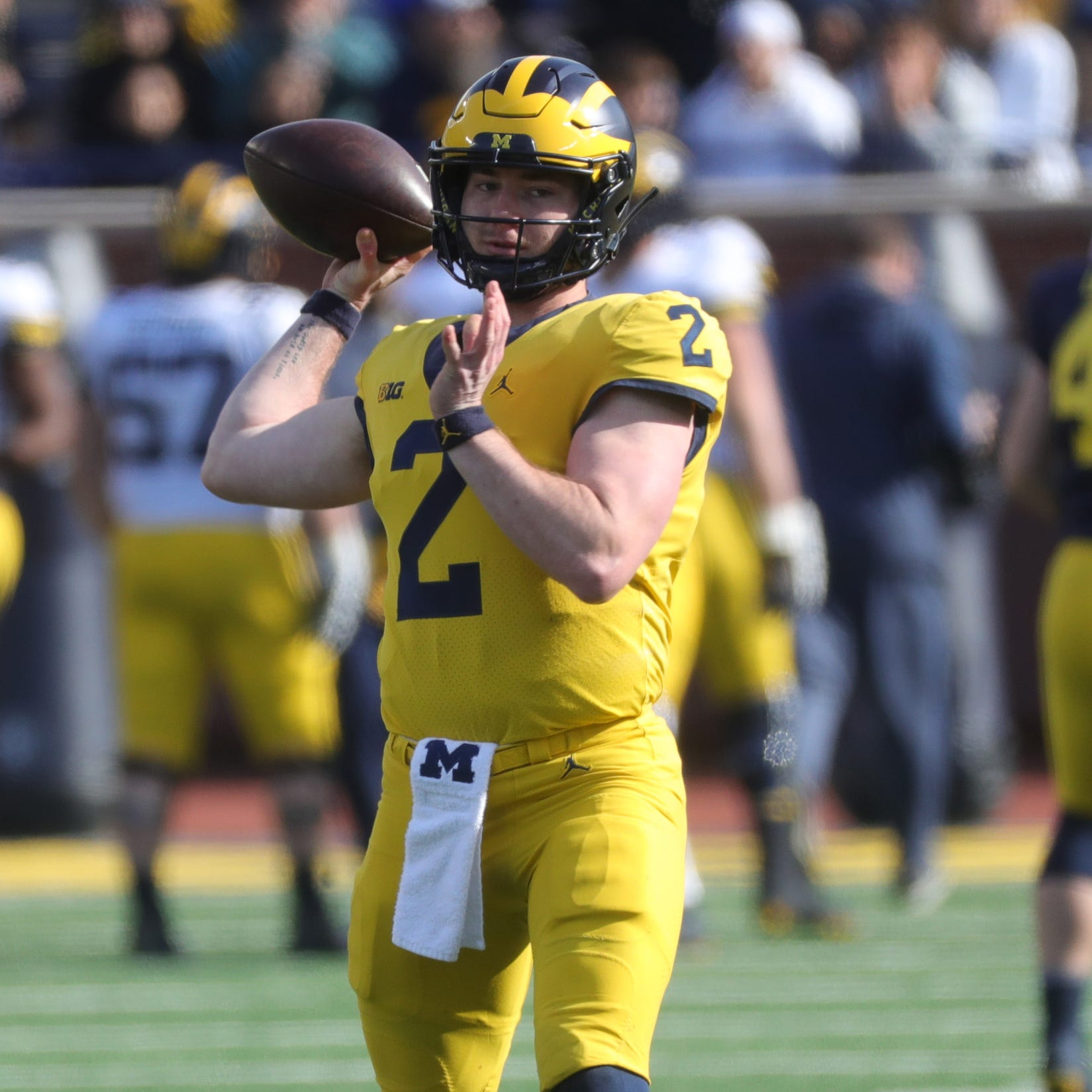 Michigan football spring game: QB Shea Patterson looks smooth