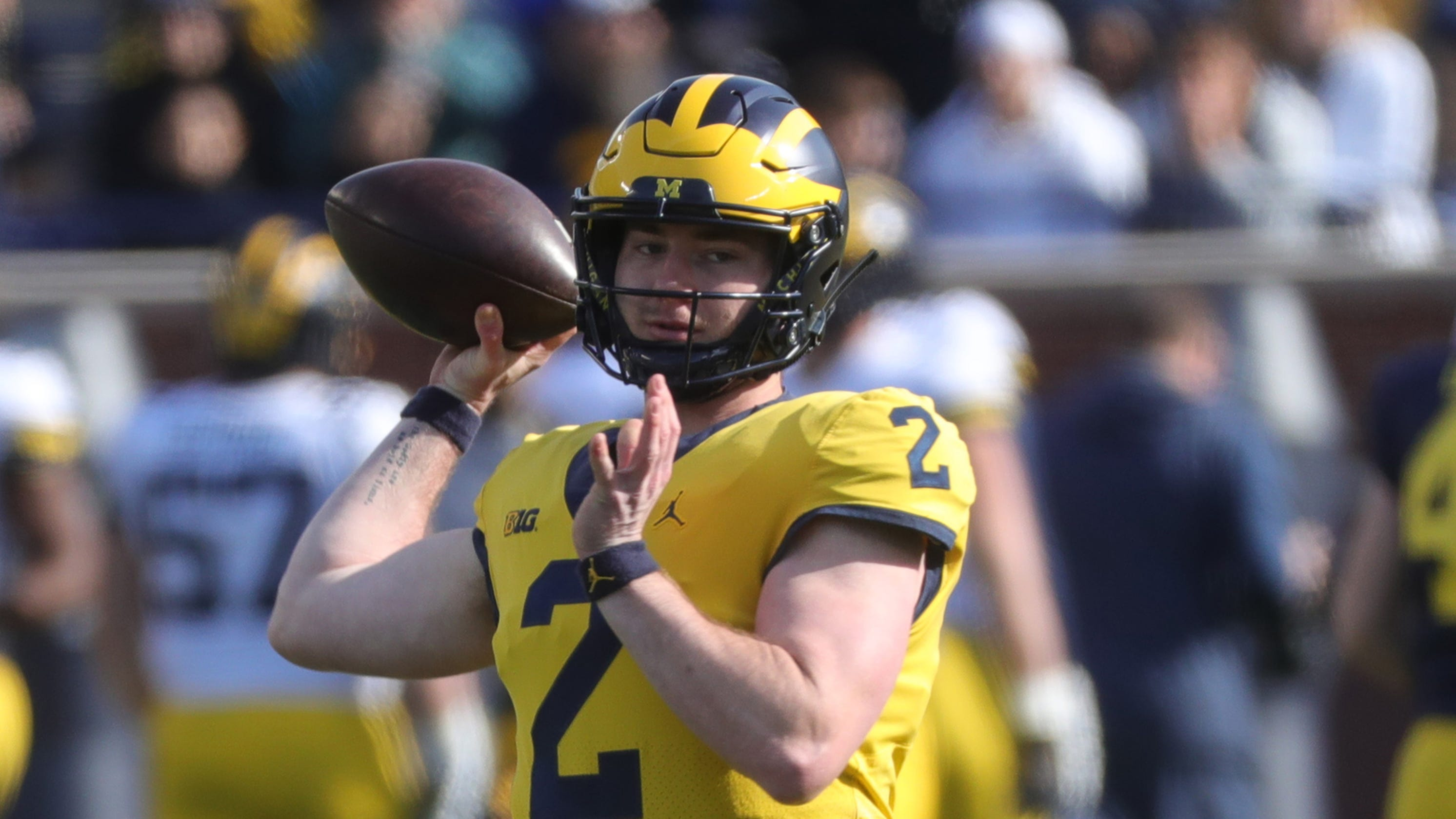 f5f696e644237d Michigan football  Shea Patterson looks smooth at spring game