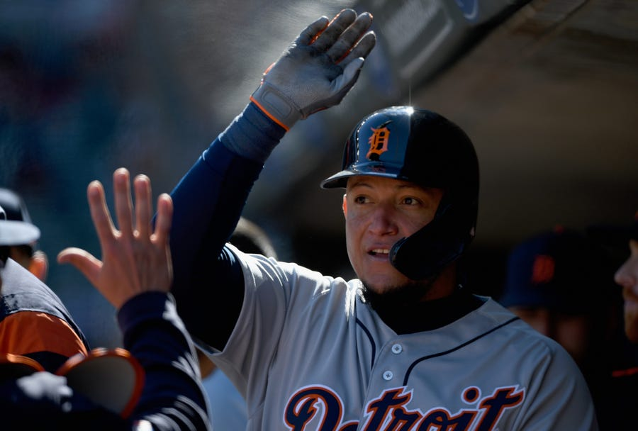 Miguel Cabrera is still looking for his first home run of the season. He has 14 singles and one double on the year.
