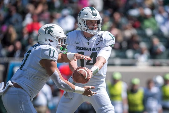 Quarterback Brian Lewerke and running back Connor Heyward headed an offense that averaged 18.7 points per game last season.