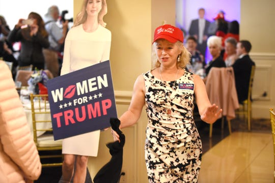 Tamera Murray hits the dance floor for the Women for Trump Style Show at the Trumperware event in Flushing.