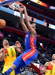 Pistons center Andre Drummond's role in the playoff series against the Bucks becomes even bigger if Blake Griffin remains limited by a knee injury.