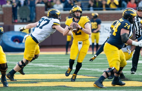 """""""Shea has a lot of me inside of him. We're two passionate people,"""" says Josh Gattis, Michigan offensive coordinator."""