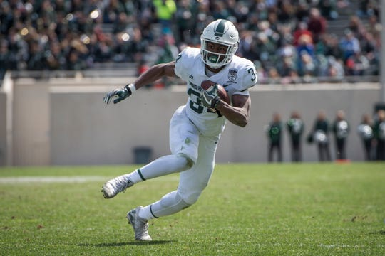 Michigan State freshman running back Anthony Williams showed some elusiveness in Saturday's spring game.