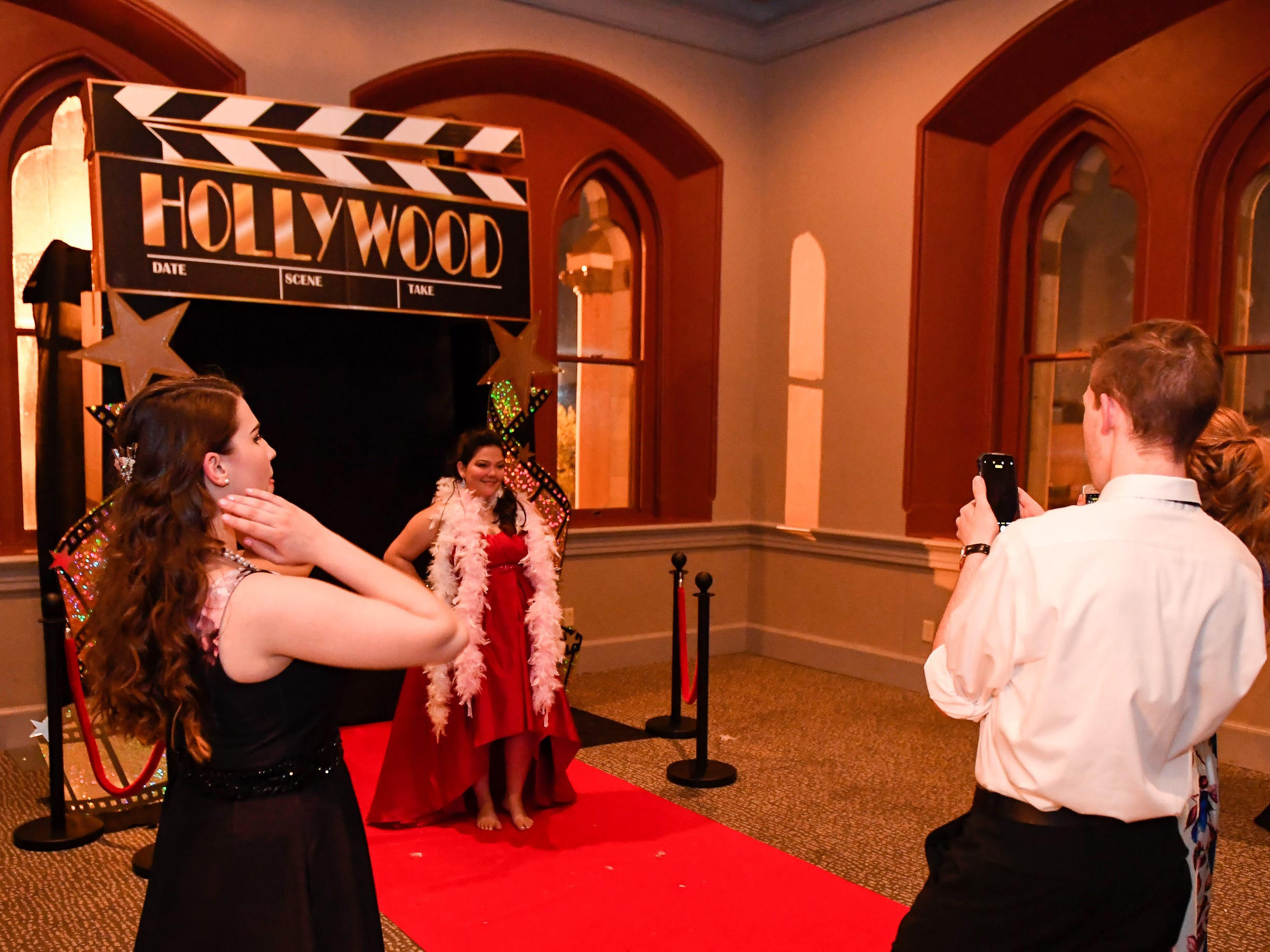 Photo station at the North High School Prom held at the Old Post Office in downtown Evansville Saturday, April 13, 2019.