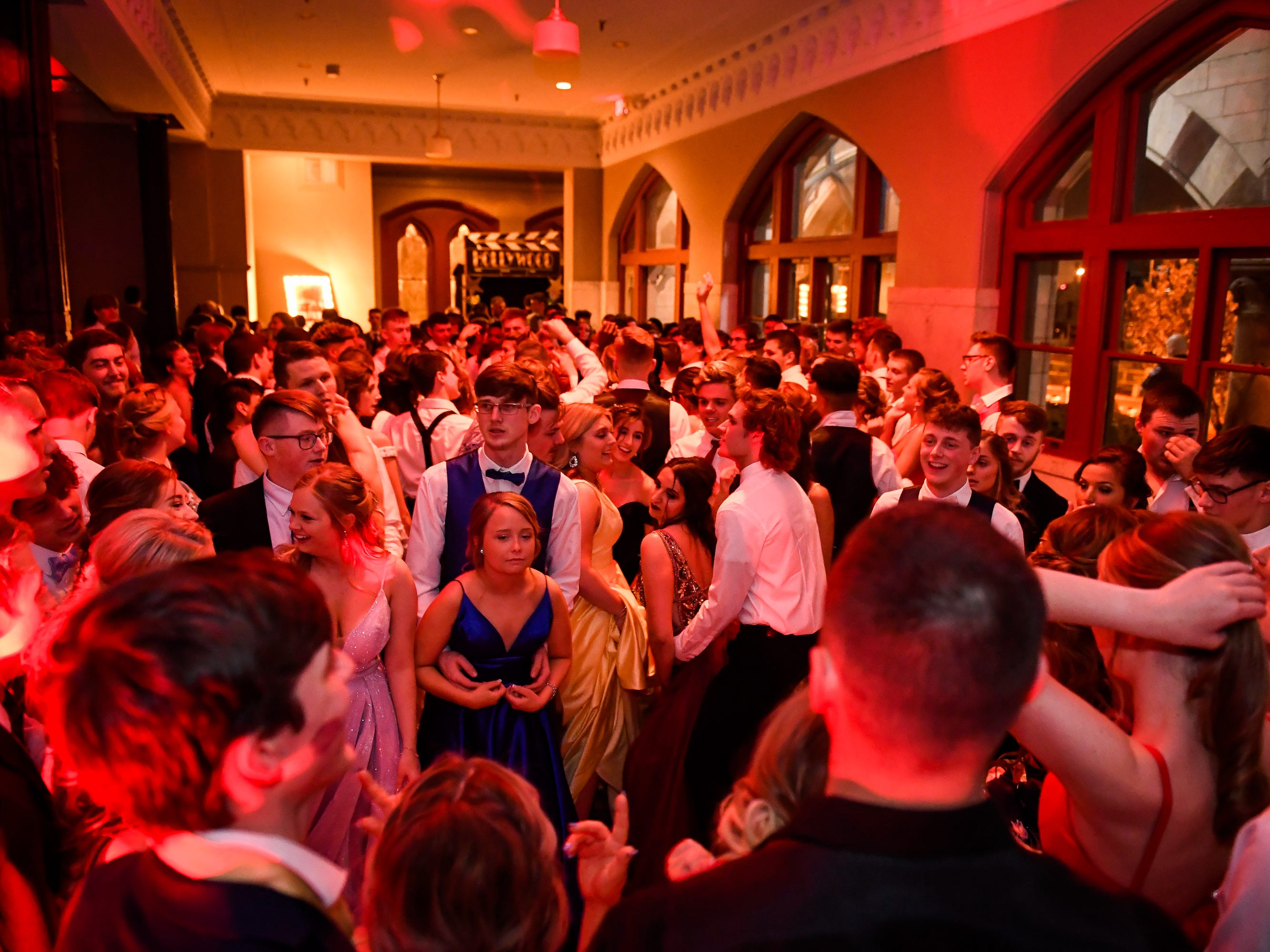 The dance floor at the North High School Prom held at the Old Post Office in downtown Evansville Saturday, April 13, 2019.