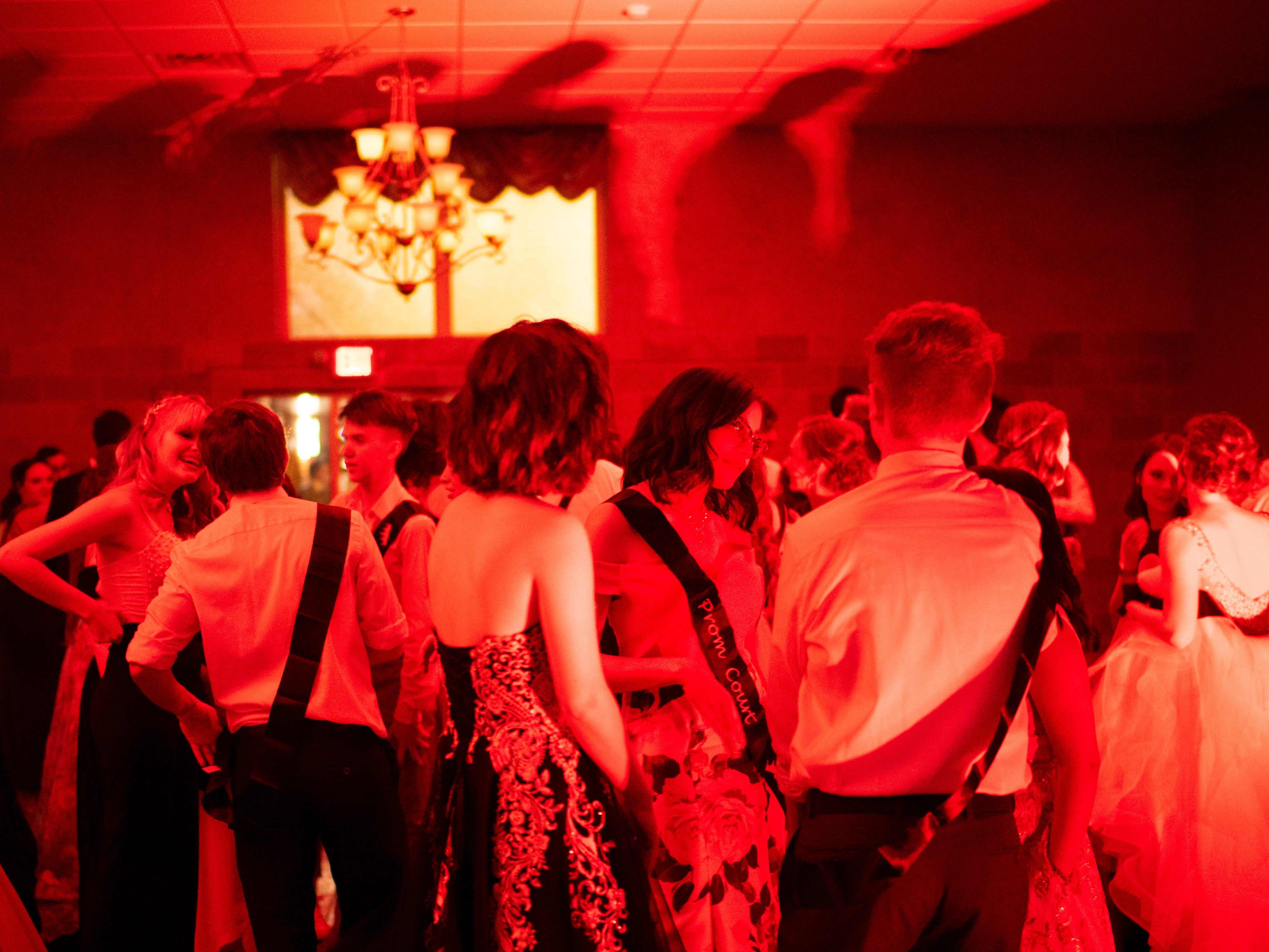 """Signature School students dance at """"Jurassic Prom"""" at Party Central Saturday night."""