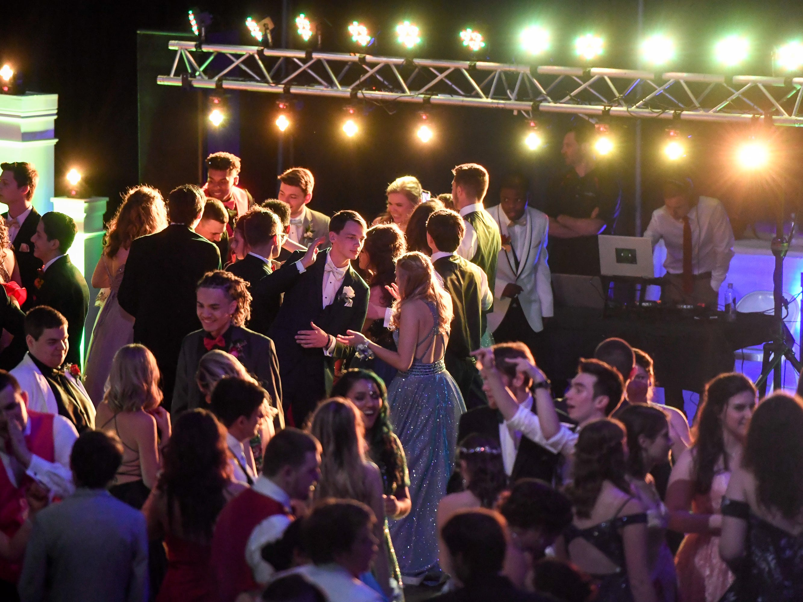 Dancers at the Henderson County High Prom held at Colonel Gym Saturday, April 13, 2019.